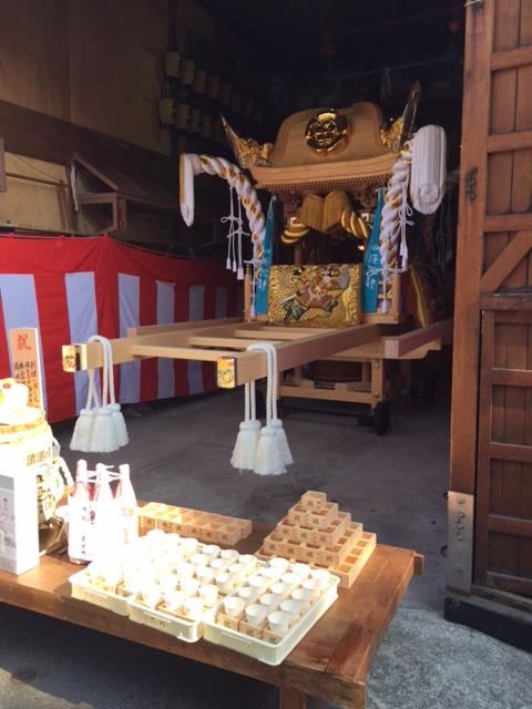 平成29年9月10日(日)戎町屋台の新調入魂式の画像です。by.なすび屋さん